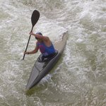  Canoe action shot at the CWC (Charlotte Whitewater Center)