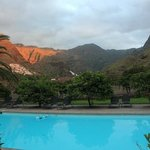  A view of the pool looking up the Agaete valley