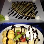 Banana split - £3.50? and a huge Crepe! - £4?