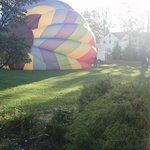 Get ready for hot air balloon ride  -- right out side our suite !