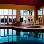 Indoor pool and hottub beside the spa