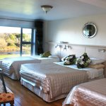  one of our large family ensuite bedrooms and a view over looking the river