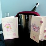 Champagne and cards!