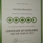 Congratulations Casa Doña Elena B&B... Keep it up!