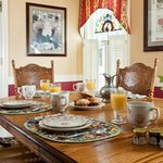  Great Room dining table set for breakfast