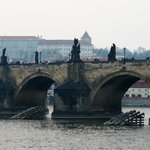 Charles Bridge. A two minute walk away