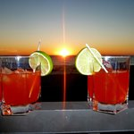  Cocktails on your beach front balcony at Sunset