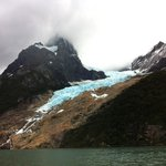 Serrano glacier from boat