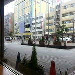 View from Restaurant window can see Kasjiwa go by.