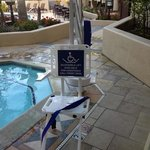  handicap pool and spa chair