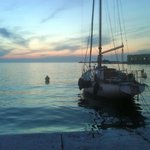  sunset over the gulf of Trieste