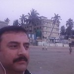 Outside the hotel (Juhu Beach )