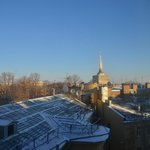  View from my room. Can see the Admiralty Building, Peter and Paul Fortress, and the Hermitage.