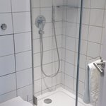  Cramped bathroom - nice shower though!