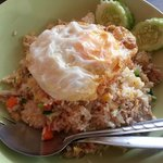 pork fried rice with egg
