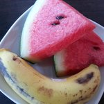 fruit come with the american b'fast order