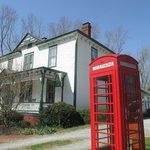 Loved the old time telephone booth out front!