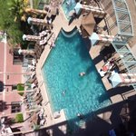 View of pool from room balcony