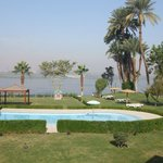  View from room looking across the childrens pool down to the Nile
