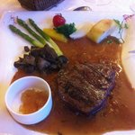 Fillet steak with yuzu marmalade
