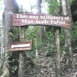  one of the signs along the trail