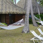  areas de descanso privado de los bungalow de playa