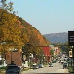  View down Main street in fall
