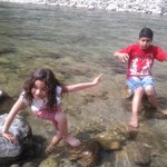  Kids enjoying in river area