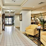 You'll enter the hotel  through our welcoming gathering room.