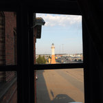  View of the old lighthouse from the TV room window