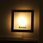  Sign on the &quot;Arrest&quot; room