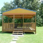 Gazebo with BBQ Pit