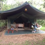 Our tent at Richard's Camp