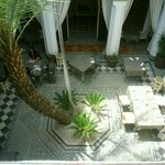 The Riad Si Said Restaurant and forecourt