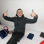 Callum happy with the room