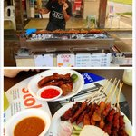satay sticks and chicken wings in BBQ style!