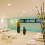 large indoor pool to recharge your batteries
