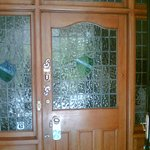 Flint-glass front door