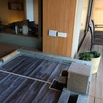  private onsen on balcony