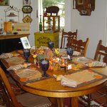  Our dining table changes with the seasons