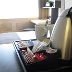 Crowne Plaza Zurich water kettle in every room
