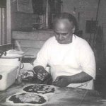  Ernie Boccamiello (sp?) Proprietor making some pies for us in early 1960&#39;s. Simply the best