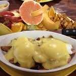 Meat Lovers Egg Benedict = AMAZING