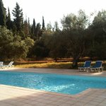 The swimming pool is set in a gorgeous Mediterranean background