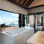 Infinity Water Villa bathroom