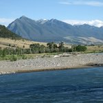 yellowstone river--at property edge