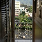 View from hostel corridor