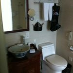 Clean and serviceable bathroom