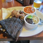 Rib Combo Plate with pulled pork