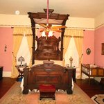 Awesome antique tester bed, C A Miller suite